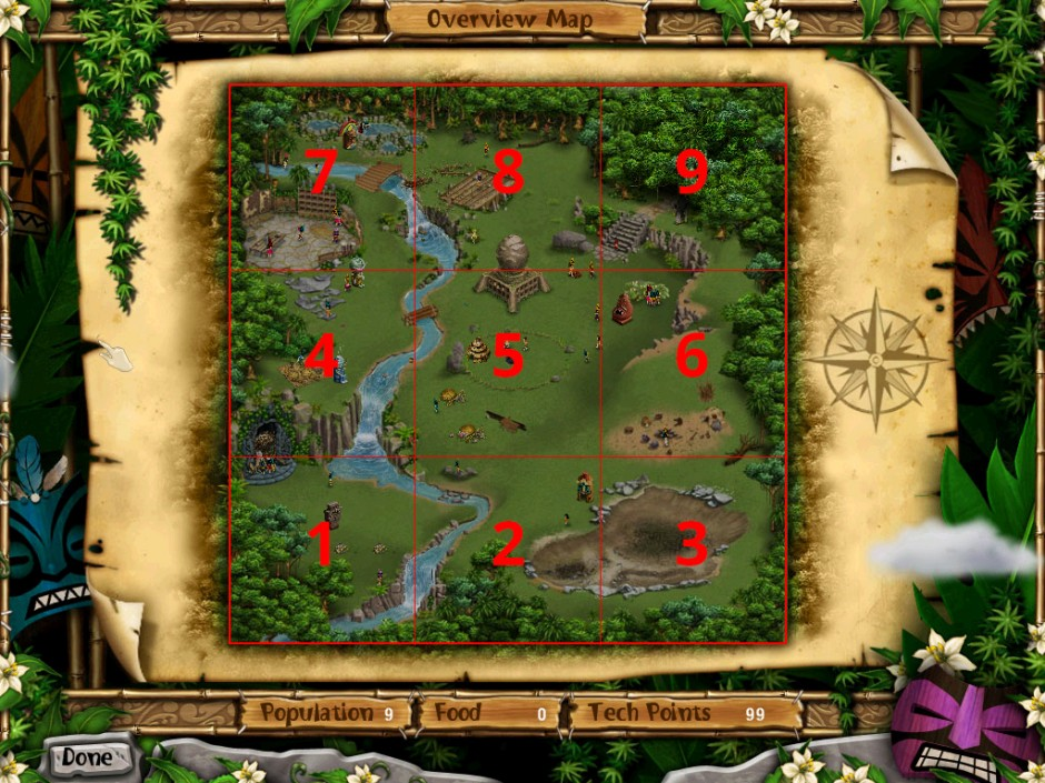 Virtual Villagers 5 Overview Map