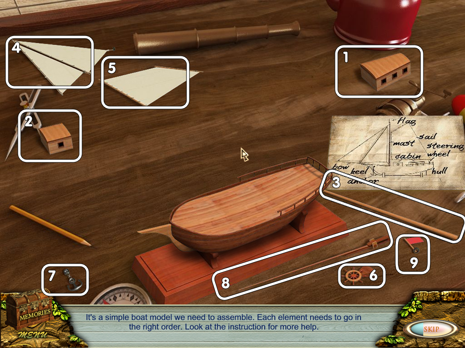 Love Story - The Beach minigame Ship