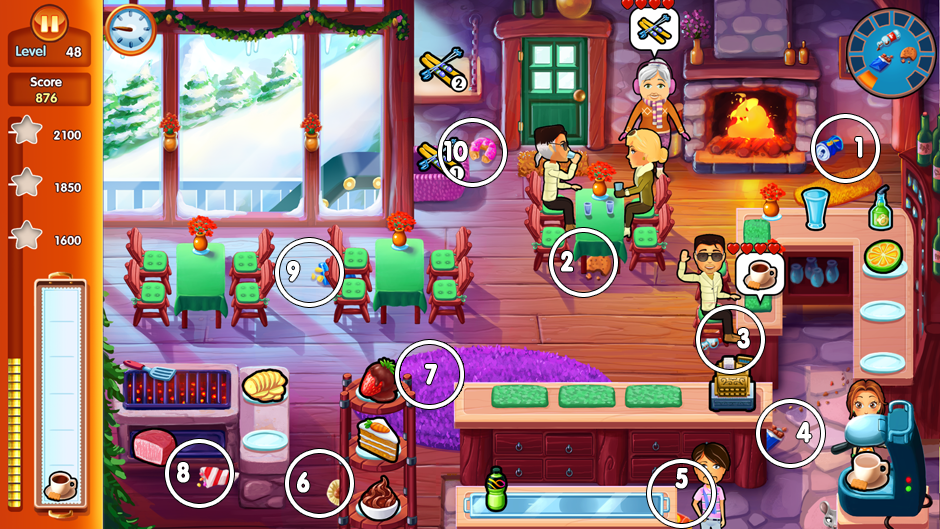 Level 4 - 10 items to clean locations in Delicious Emily's Home Sweet Home