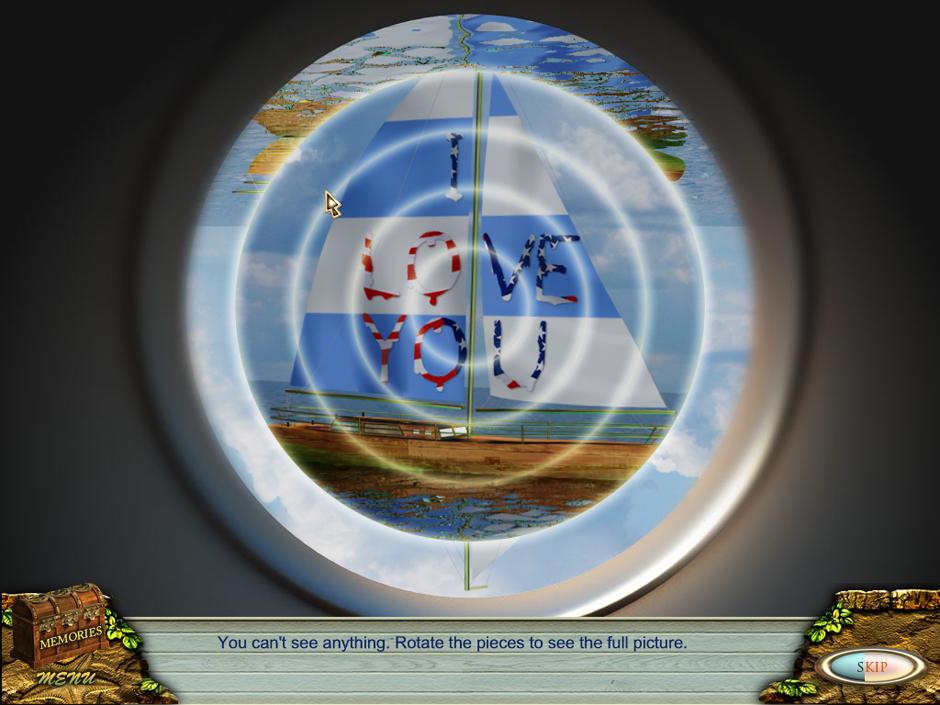 Minigame telescope - a Sail ship