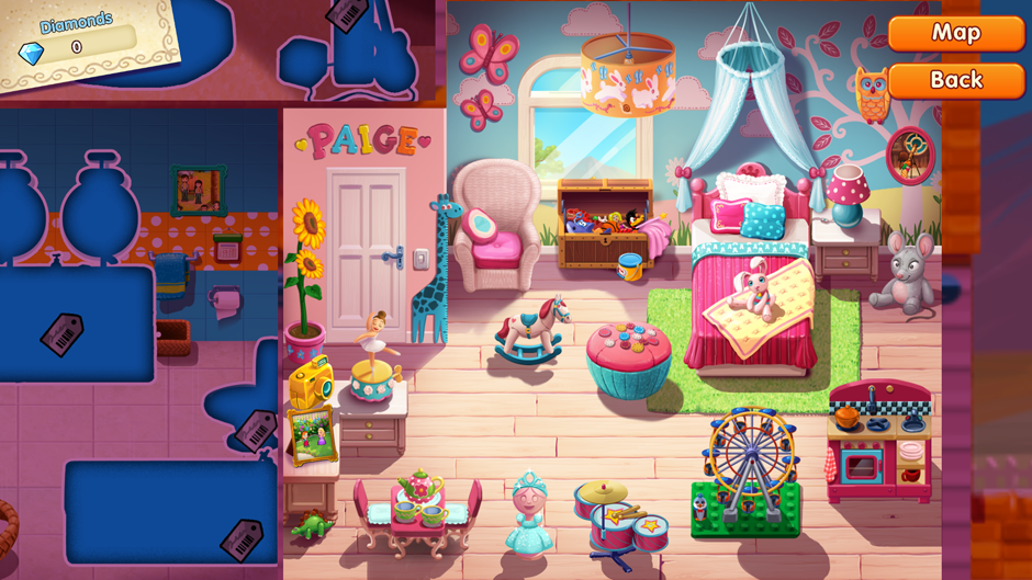 All trophies Paige room in Delicious Emily's Home Sweet Home