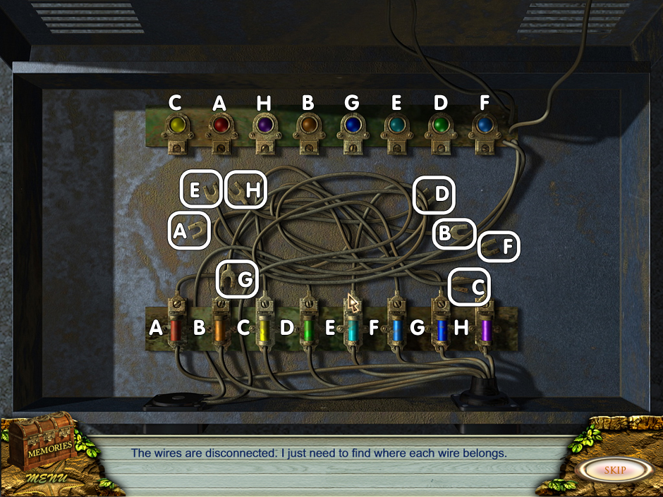 Minigame wires - can you connect the wires?