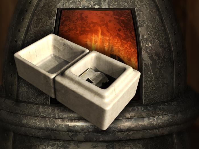 Ceramic box with half key