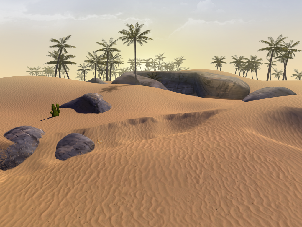 Desert in Elly Cooper and the City of Antiquity