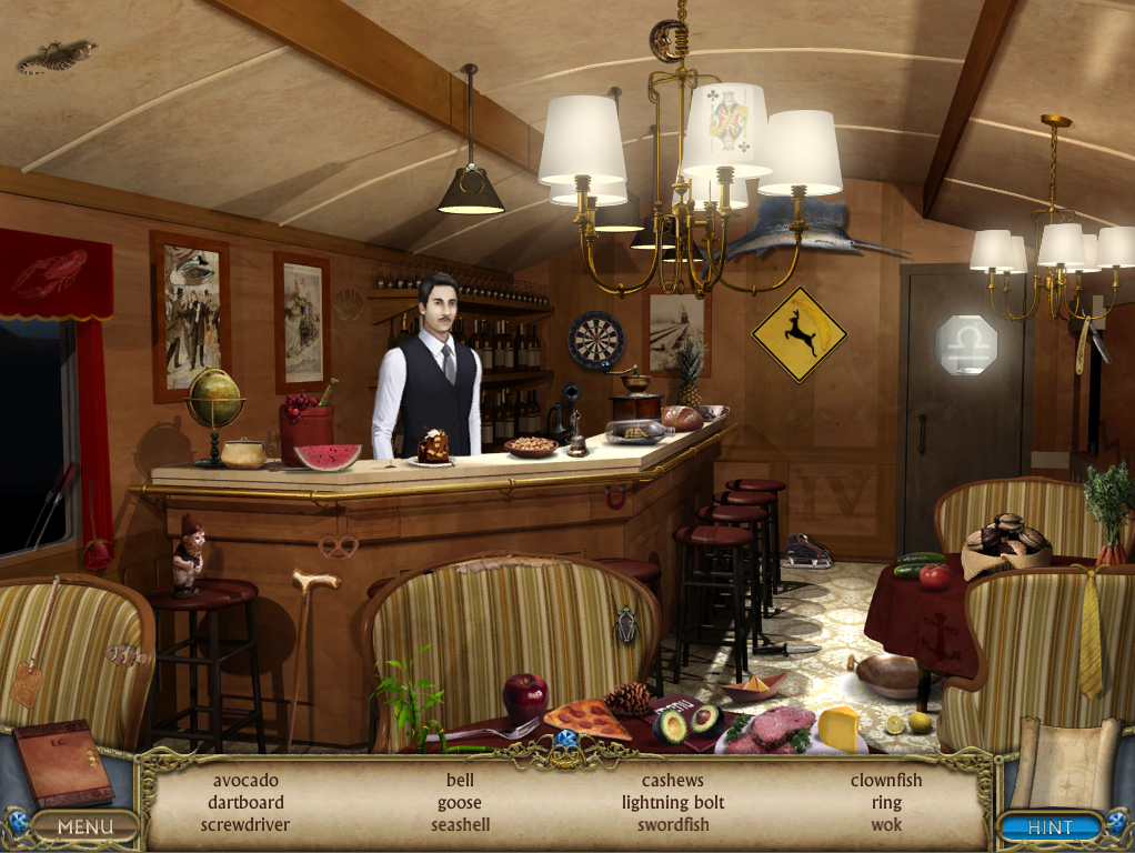 Dining Cart with Hidden Object game