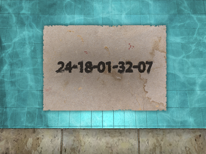 Floating note in pool