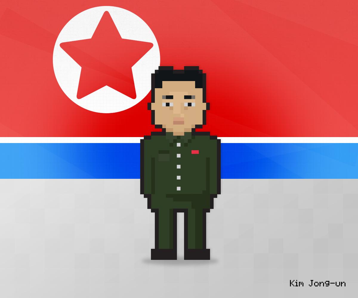 Kim Jong-un as 8-bit game character