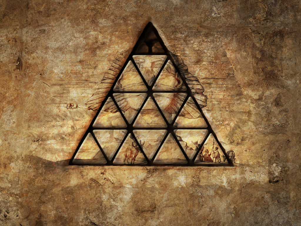 Pyramid Puzzle on Wall