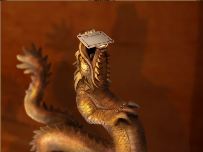 Riddle card in Dragon's mouth