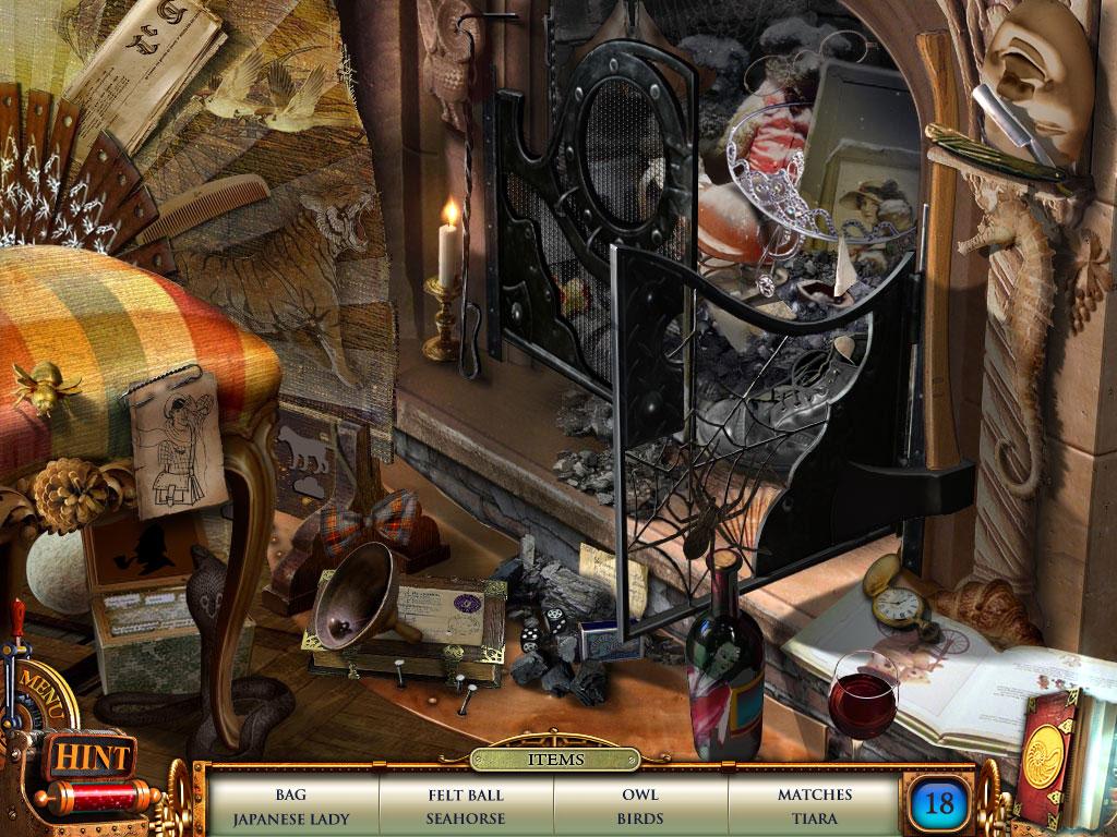 Hidden Object Scene Fireplace in Nemo Secret Vulcania