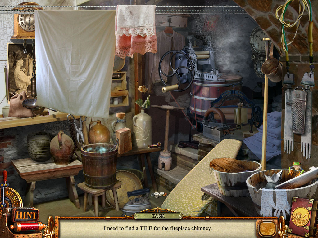 Hidden Object Scene First laundry minigame
