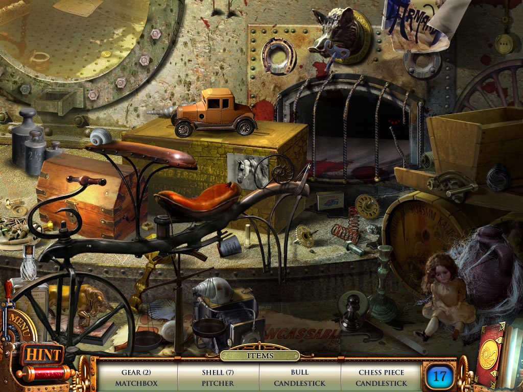 Hidden Object Scene - can you find all 17 items