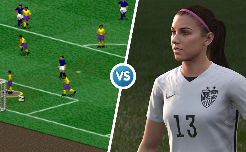 Fifa 1996 vs 2016 graphic comparison