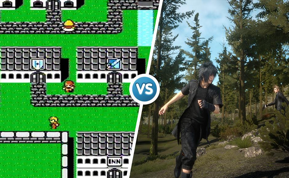 Final Fantasy 1987 vs 2016 graphic comparison