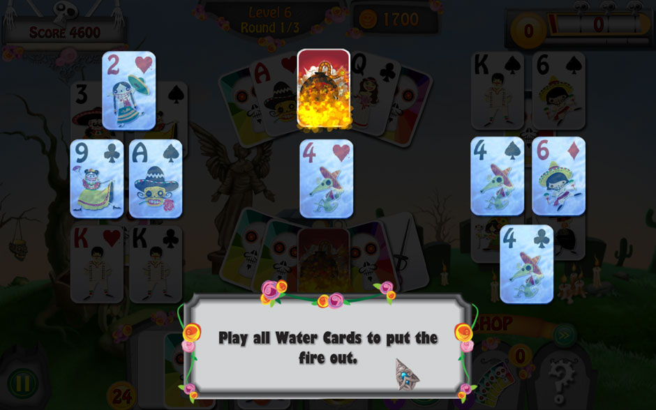 Forgotten Tales Day of the Dead Water and Fire Cards