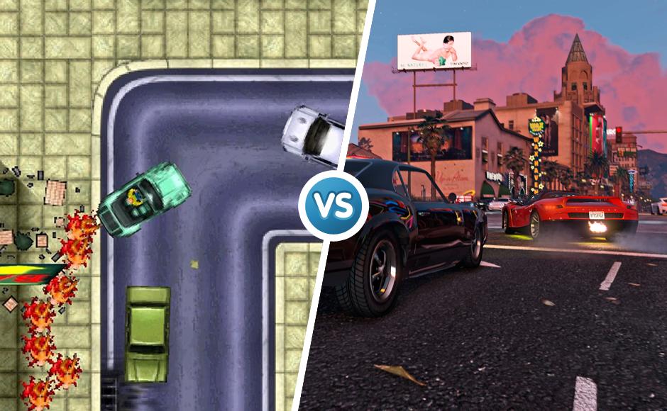 Grand Theft Auto  1997 vs 2015 graphic comparison