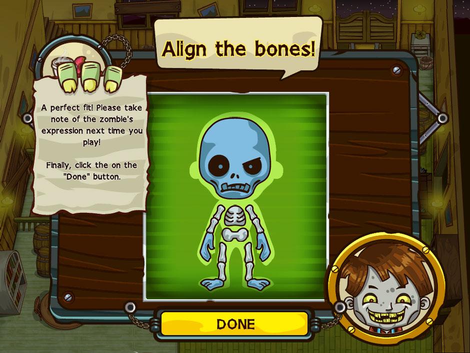 Grave Mania Undead Fever Bone Alignment Minigame