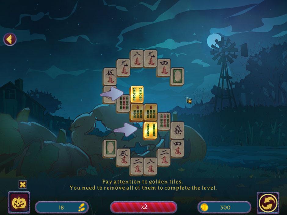 Halloween Night Mahjong Gold Tiles