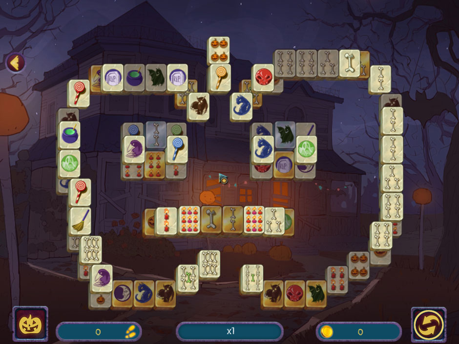 Halloween Night Mahjong Halloween Symbol Tiles