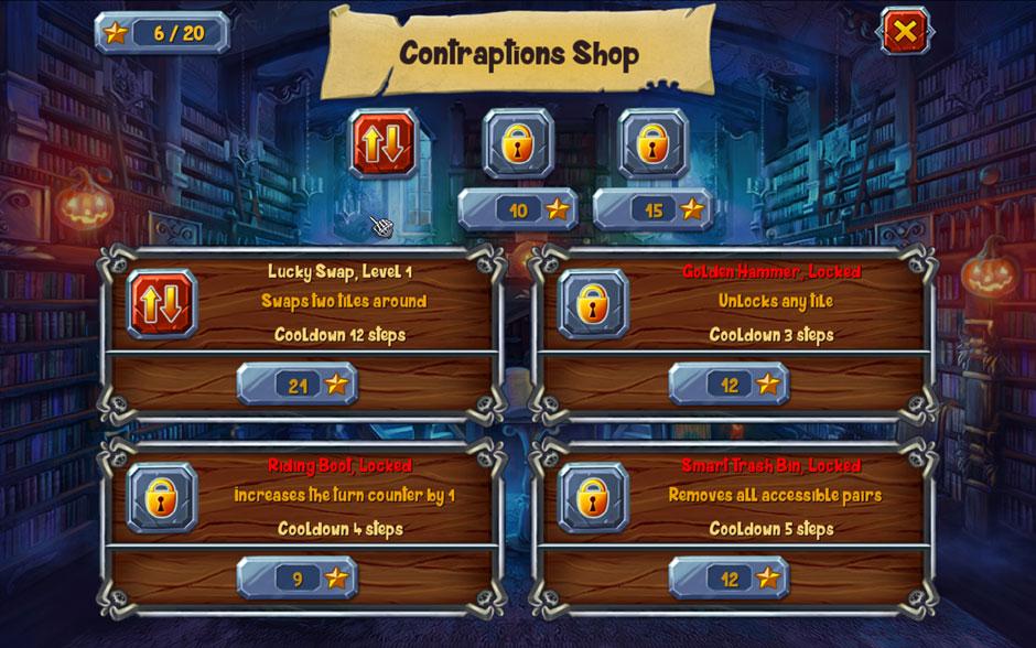 Halloween Stories Mahjong Contraptions Shop