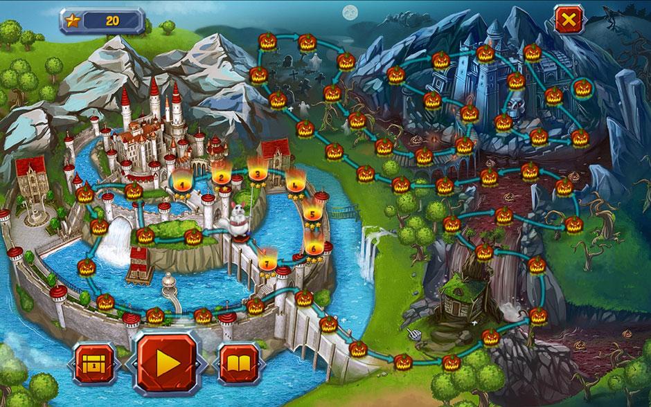 Halloween Stories Mahjong Map