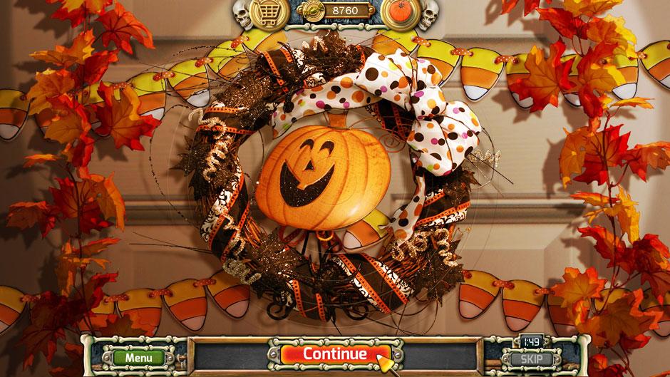 Halloween Trick or Treat 2 Halloween Door Wreath Puzzle Solution