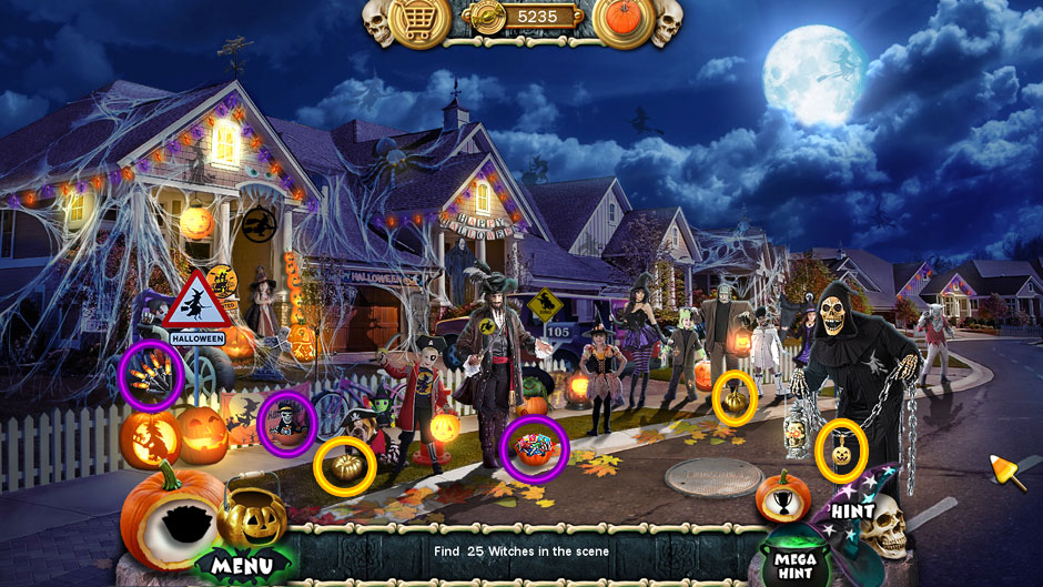 Halloween Trick or Treat 2 Home at Night
