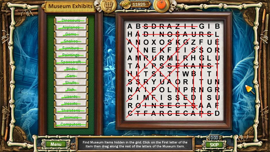 Halloween Trick or Treat 2 Museum Crossword Puzzle Solutions