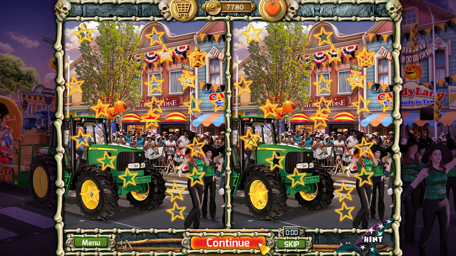 Halloween Trick or Treat 2 Springfield Main St 20 Differences Puzzle Solution