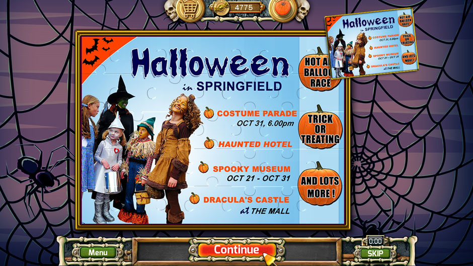 Halloween Trick or Treat 2 Town Poster Puzzle Solution