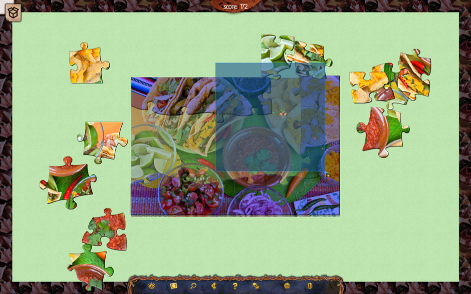 Holiday Jigsaw Halloween 3 Click and Drag Select
