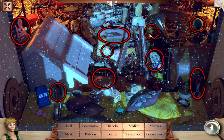 Peter and Wendy in Neverland Return Home Object Locations