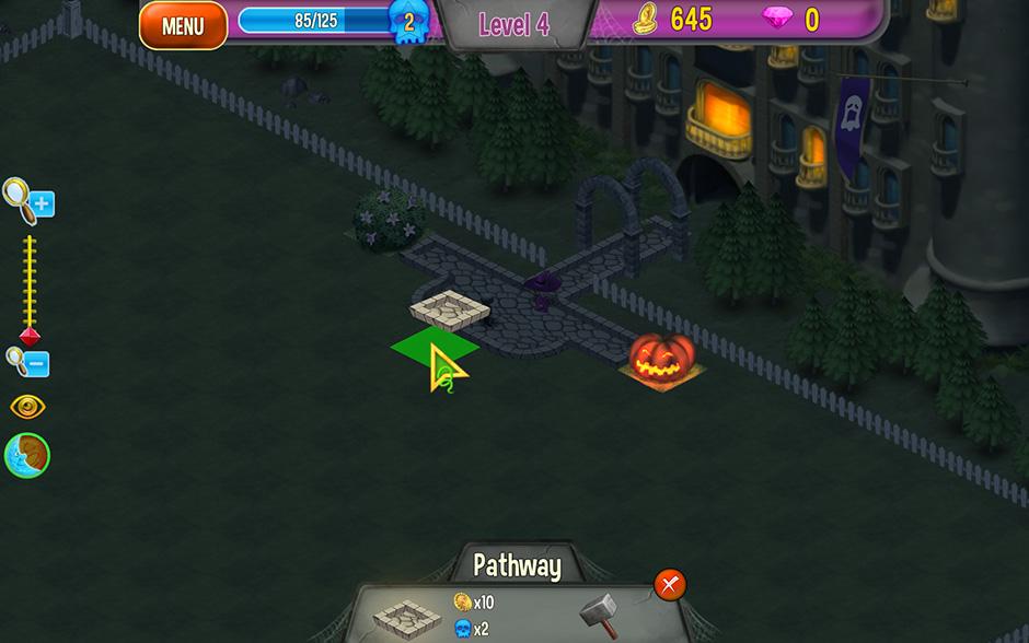 Queens Garden Halloween Building Paths
