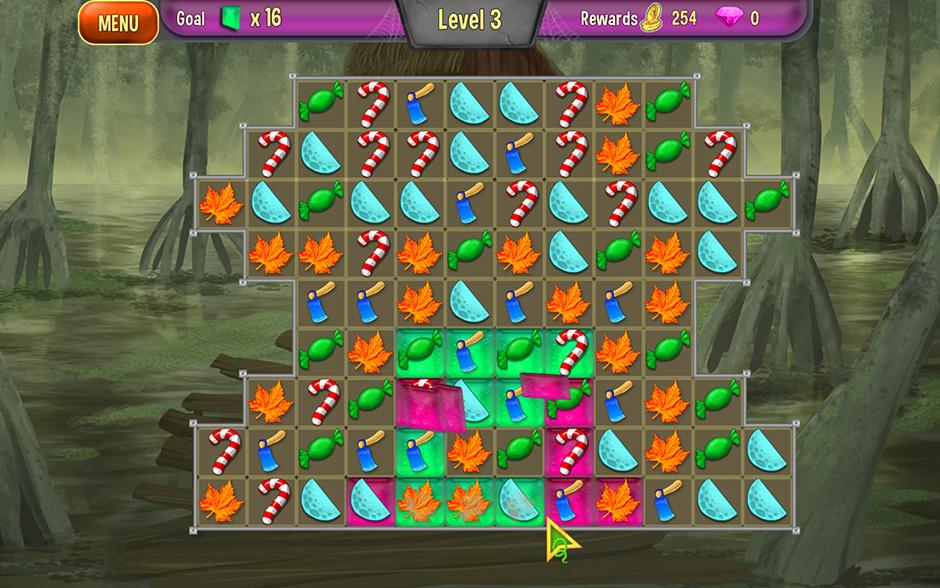 Queens Garden Halloween Pink and Green Tiles