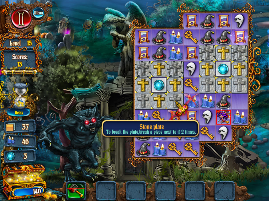 Save Halloween City of Witches Blocked Cells