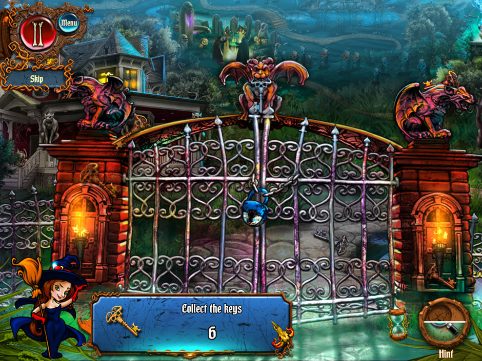 Save Halloween City of Witches Hidden Object Scene