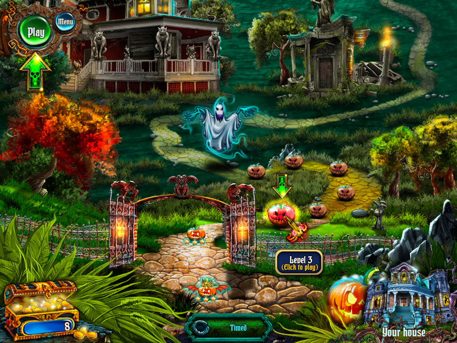 Save Halloween City of Witches Map