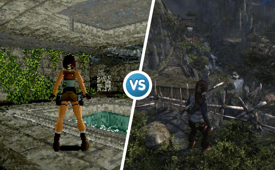 Tomb Raider 2001 vs 2014 graphic comparison