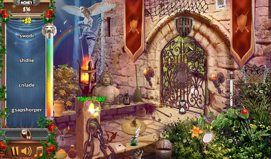 Castle Wonders - A Castle Tale Word Scramble Hidden Object Scene