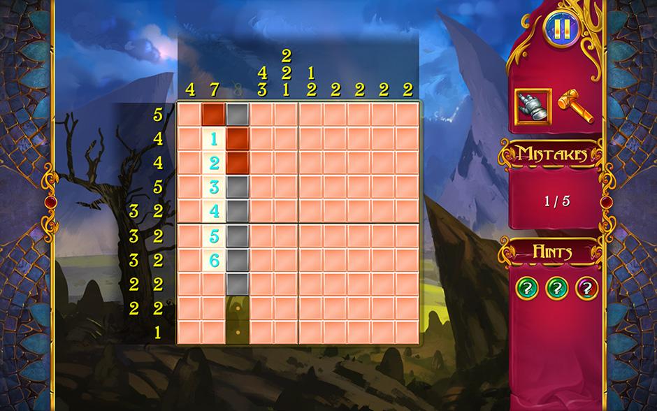 Mystery Mosaics Puzzle Fill Tactic