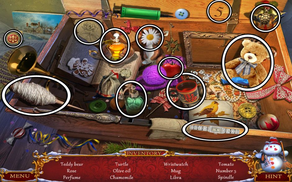 Christmas Adventure - Candy Storm Hidden Object Area Chest