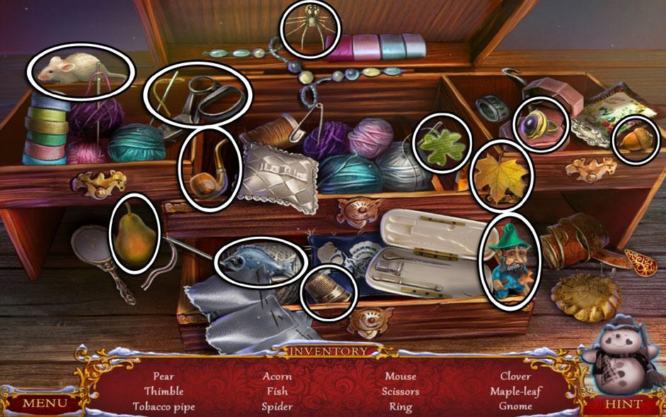 Christmas Adventure - Candy Storm Hidden Object Area Dresser