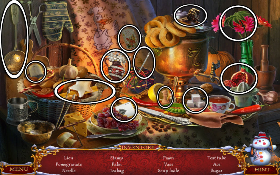 Christmas Adventure - Candy Storm Hidden Object Area Kitchen Cabinet
