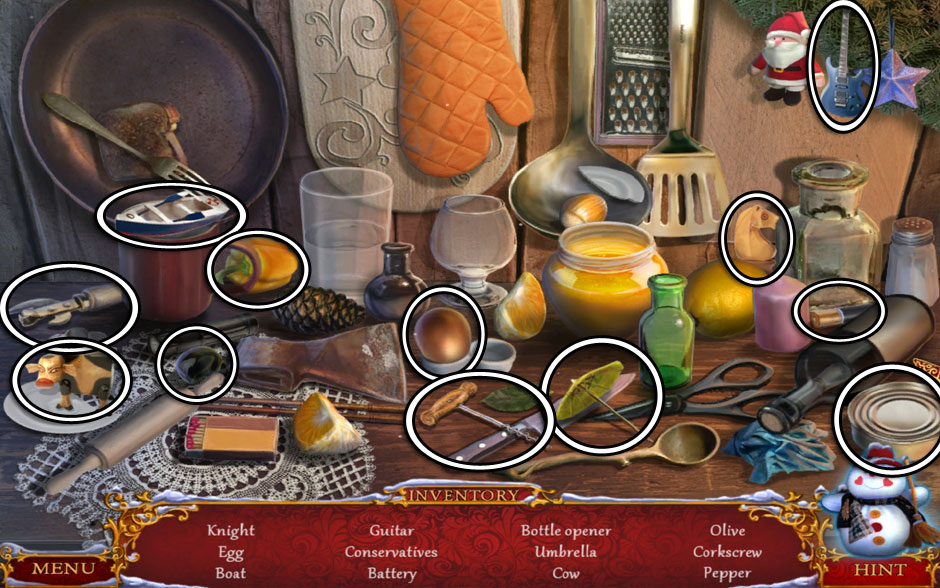 Christmas Adventure - Candy Storm Hidden Object Area Kitchen Corner