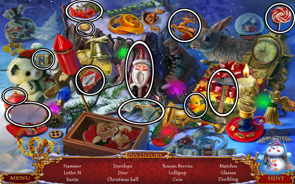 christmas adventure candy storm hidden object area stump - Christmas Candy Games
