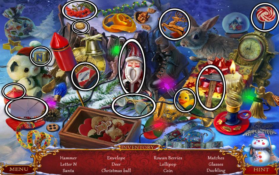 Christmas Adventure - Candy Storm Hidden Object Area Stump