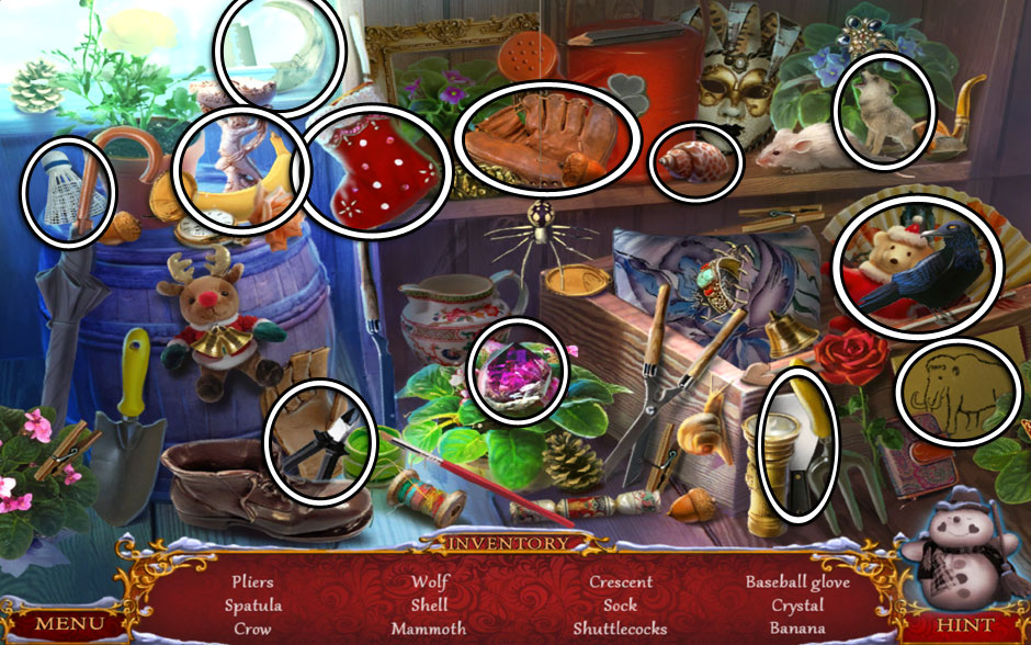 Christmas Adventure - Candy Storm Hidden Object Area Watering System