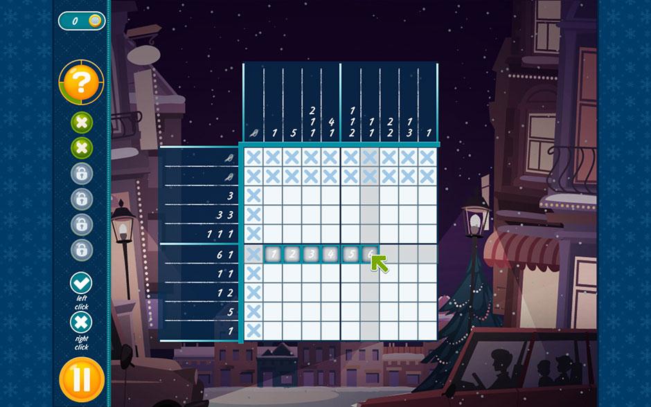 Christmas Griddlers - Journey to Santa - Highlight Multiple Tiles