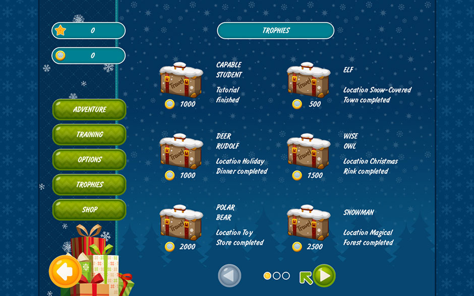 Christmas Griddlers - Journey to Santa - Trophies