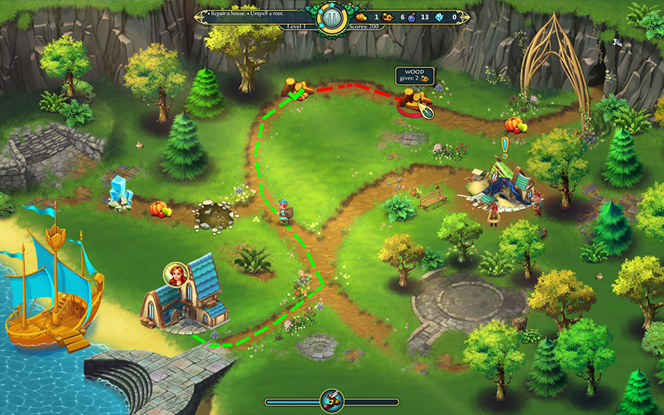 Elven Legend 2 – The Bewitched Tree Path Indicators